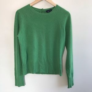 Magaschoni 100% Cashmere Button Back Sweater
